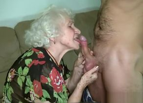 Grannie porno starlet Norma screwing..
