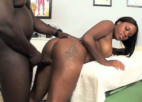 Taking large ebony man-meat makes her..