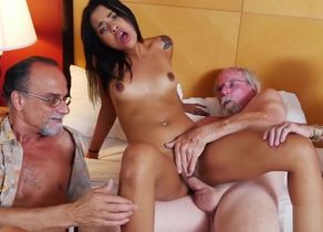 Nikki Kay Loves Group sex with Elderly..