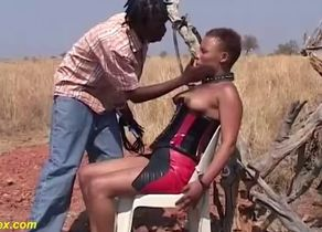 African fetish pulverize lesson at the..