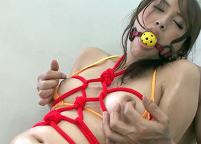 Little Nice Asian Restrain bondage..