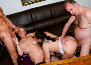 AmateurEuro - Four-way Orgy With..