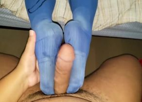 Dominican Blue Sockjob - Latina Sole..