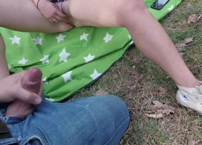 Outdoor HD Flying Jizz Compilation..
