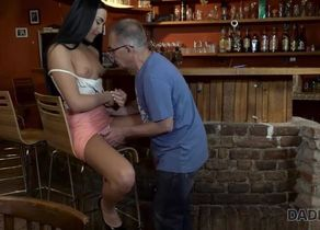 DADDY4K. Grey-haired daddy makes enjoy..