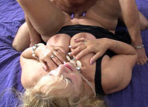 Omas - German mature gets  rock hard..