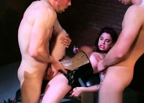 Angel Joanna drills 2 boys in their..