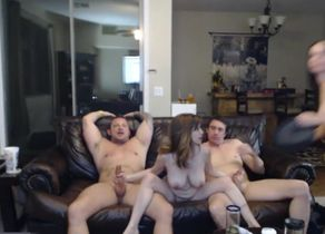 3 chesty Cougar smashing on web cam on..