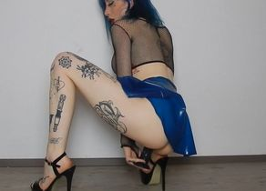 Goth Spandex Maiden Getting off With..