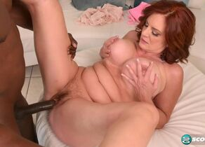 Big-titted Cougar takes a Big black..