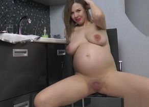 Preggie Lina Undresses Naked and..
